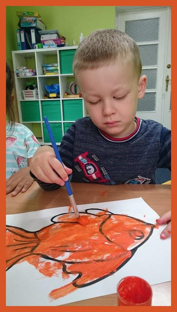 Malowanie ryby na zajęciach