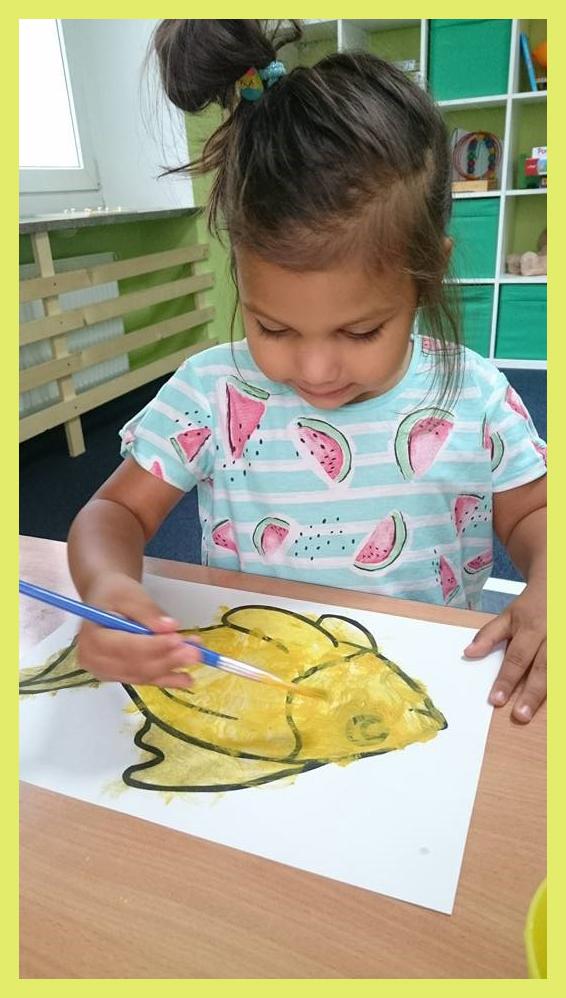 Malowanie rybki w przedszkolu