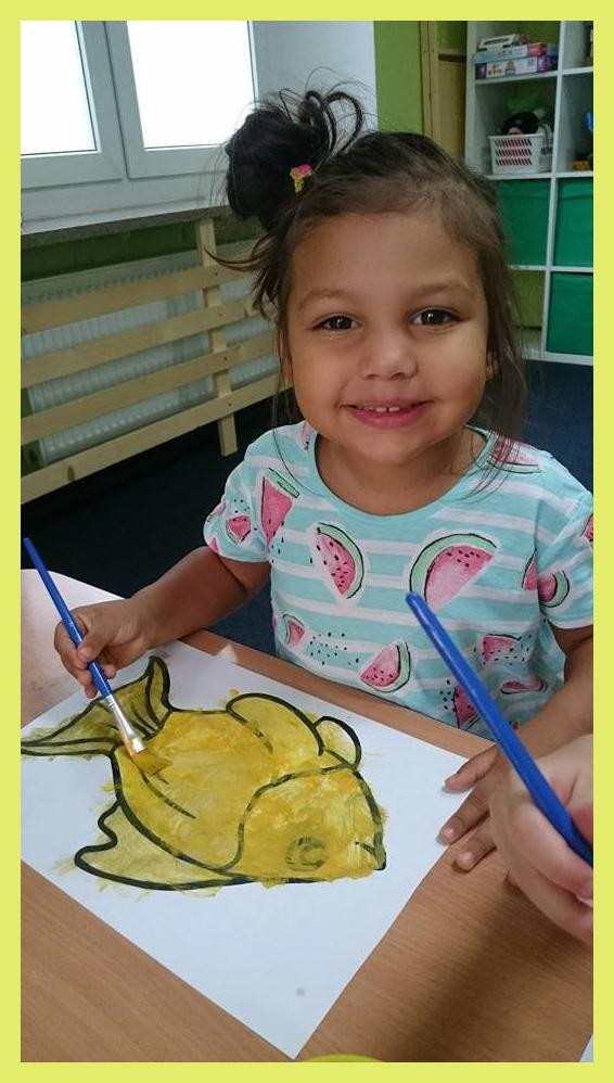 Malowanie złotej rybki
